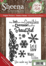 Sheena Douglass - Perfect Partners - Deck the Halls - Rubber Stamp - Beautiful Snowflakes